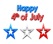 Happy 4th of July PNG Clipart Picture