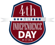 4th July Badge PNG Clip Art Image