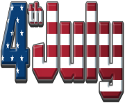 4th of July USA PNG Clip Art Image
