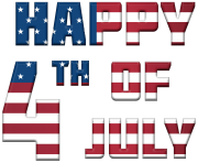 Happy 4th of July USA PNG Clip Art Image