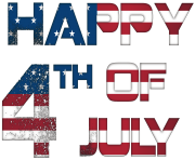 Happy 4th July USA PNG Clip Art Image