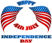 4th July American Wings PNG Clip Art Image