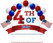 Happy Independence Day 4th July PNG Clip Art Image