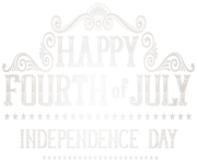 Happy 4th July Vintage PNG Clip Art Image