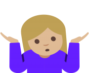 Emoji Shrug woman