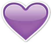 purple heart emoji ios