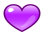 purple heart emoji png