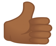 thumbs up emoji black skin
