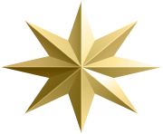 Gold Star Transparent PNG Image