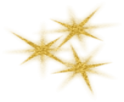 Gold Decorative Srars PNG Picture