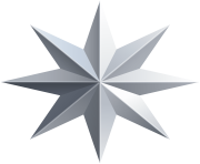 Silver Star Transparent PNG Image
