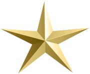Gold Star Transparent PNG Clip Art