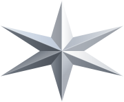 Silver Star Transparent Clip Art Image