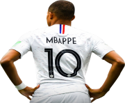 Kylian Mbappe png white jersey france world cup