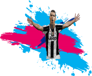 CR7 Juventus Png Colorful