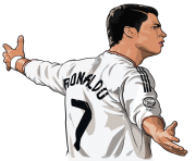 cr7 png cartoon