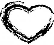 heart sketch clipart black and white