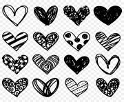 heart clipart black and white png