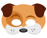 dog face sticker mask png snapchat messenger