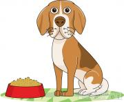 Dogs dog sitting clipart kid