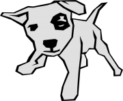 dog simple clipart