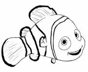 nemo fish black and white clipart