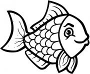 animal fish black and white clipart