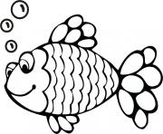 rainbow fish black and white clipart