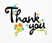 thank you card clipart