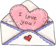Love you letter clip art