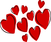 february clipart cluster heart transparent