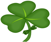 St Patrick Shamrock with Bow PNG Picture