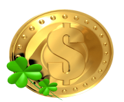 Transparent Gold Saint Patrick Lucky Coin PNG Picture