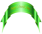 Happy St Patricks Day Green Banner PNG Clipart
