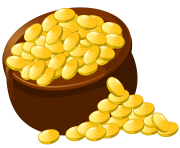 Transparent Pot of Gold PNG Picture Clipart