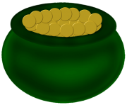 Green Pot of Gold PNG Picture