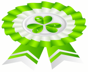 St Patricks Day Seal with Shamrock Transparent PNG Clip Art Image