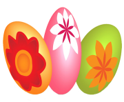 holiday flower easter eggs free png