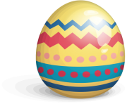 easter egg png yellow transparent