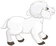 Transparent White Lamb PNG Clipart Picture