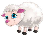 Cute White Lamb PNG Clipart Picture