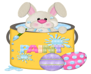 Easter Bunny in Cup Transparent PNG Clipart