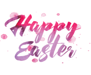 happy easter png pink