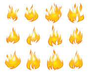 Transparent Flames Set PNG Clipart min