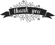 thank you stamp with flowers and ribbon banner grande