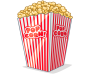 popcorn bowl png clipart 29
