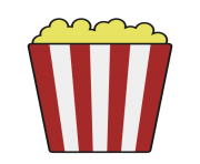popcorn bowl png clipart 3