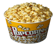 popcorn bowl png clipart 7