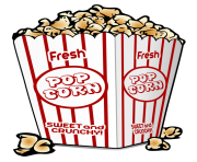 popcorn bowl png clipart 17