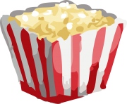 popcorn bowl png clipart 4